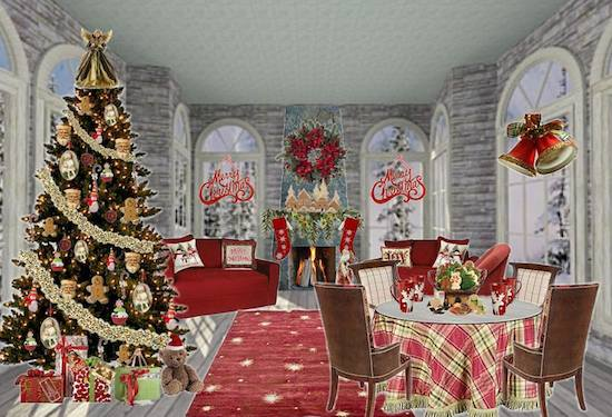 olioboard_stagetecture_traditional christmas theme - Christmas Party Theme Ideas