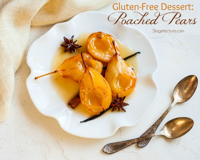 gluten free dessert poached pears