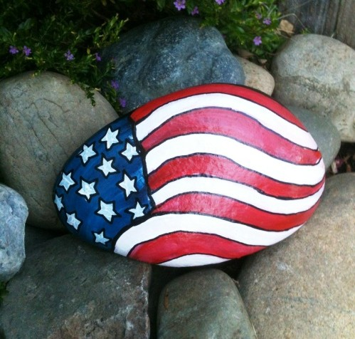 Make a patriotic pebble with your child this Memorial Day