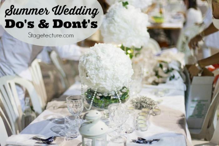 summer wedding ideas reception ideas