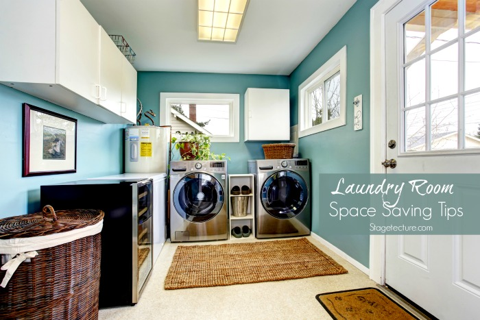 space saving laundry room