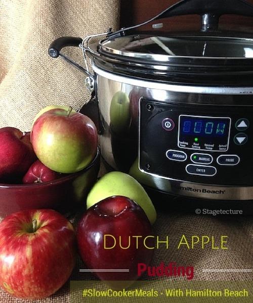 Apple Dessert #SlowCookerMeals & Win a Hamilton Beach Slow Cooker
