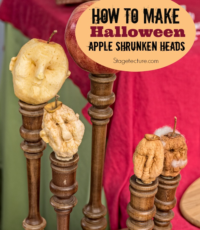 Apple shrunken heads halloween craft
