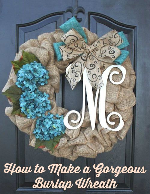 How to Make a Gorgeous Burlap Wreath (Video)
