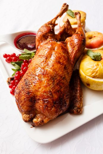 Christmas Dinner: Baked Turkey Stuffed with Apples Recipe