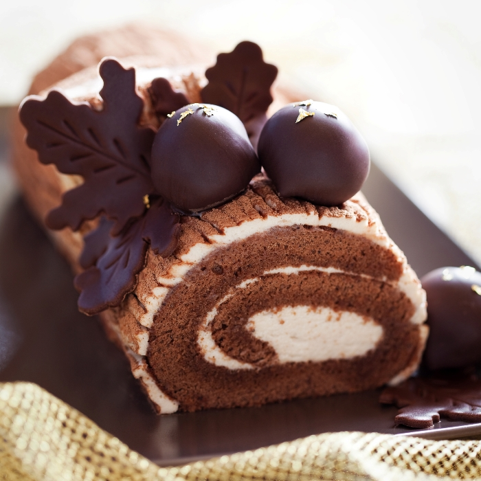 Chocolate and Almond Buche de Noel
