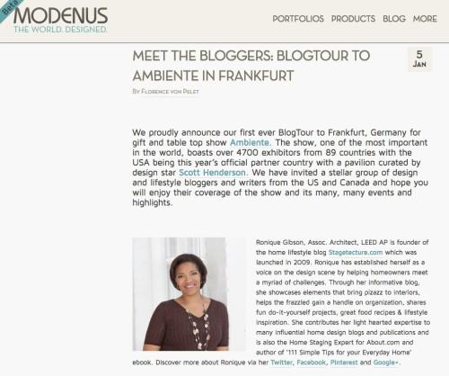 BlogTourAmbiente_Ronique Gibson