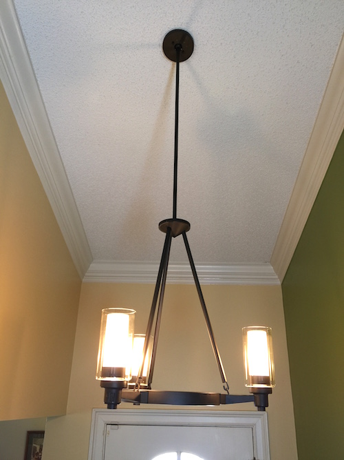 Foyer Ceiling Fan : Updating my foyer with del mar fans lighting