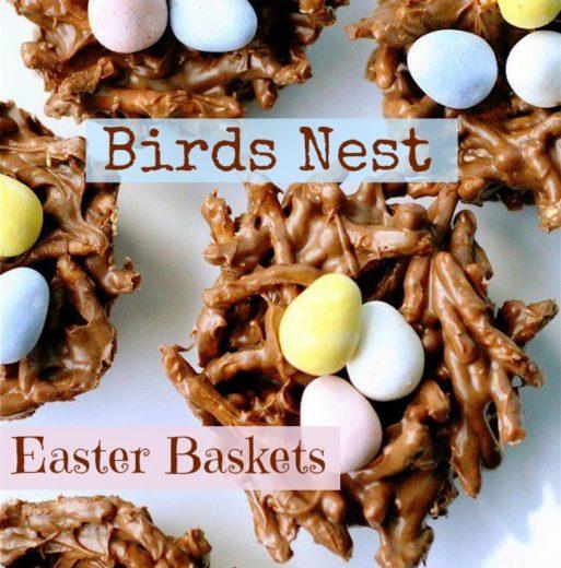 How to Make Birds Nest Easter Baskets Desserts