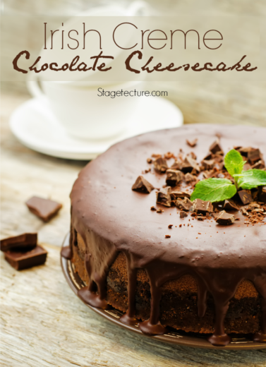 St. Patrick's Day Dessert: Irish Cream Chocolate Cheesecake