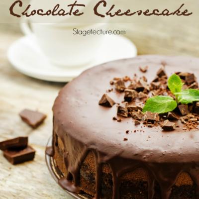 St. Patrick's Day Dessert: Irish Cream Chocolate Cheesecake