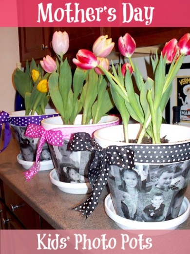 Mother's Day Craft: Customized Photo Flower Pot