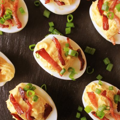 Easter Recipe: Deviled Eggs with Cheese & Bacon