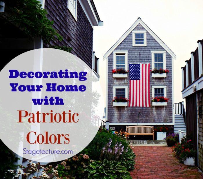 High Quality Patriotic Colors Home Decor