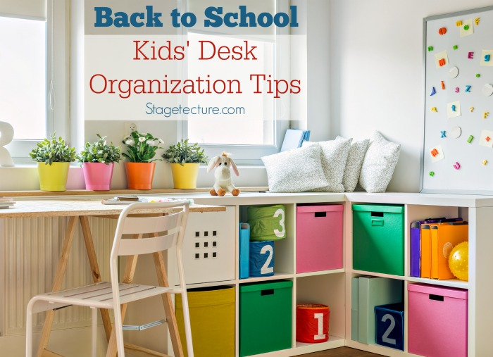 Kids Desk organization tips