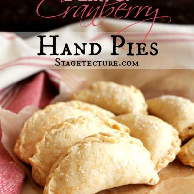 Fall Dessert: Pear and Cranberry Hand Pies Recipe