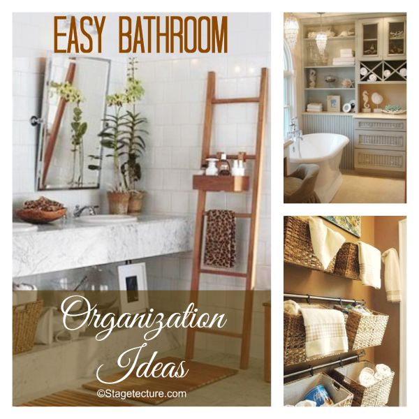 Bathroom Organizing Ideas round up tips: easy bathroom organization ideas