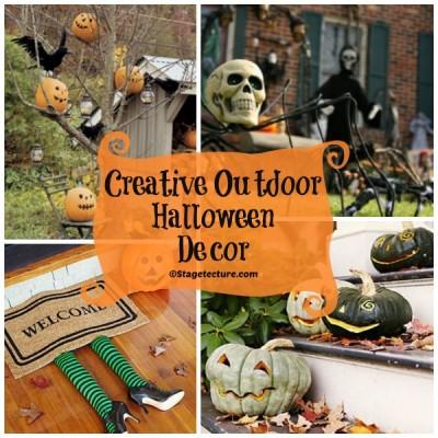 Round Up Ideas: Creative Outdoor Halloween Decor
