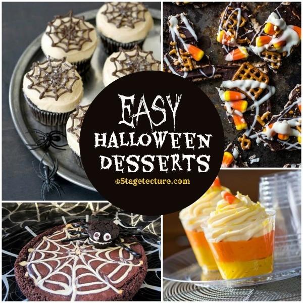 .Recipe Round Up: 5 Easy Halloween Desserts