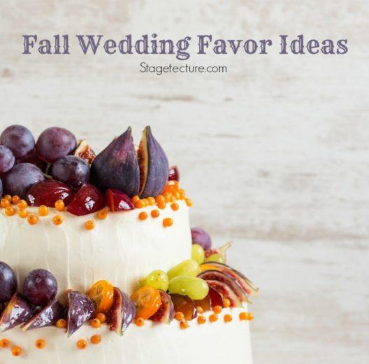 Perfect Fall Wedding Favor Ideas