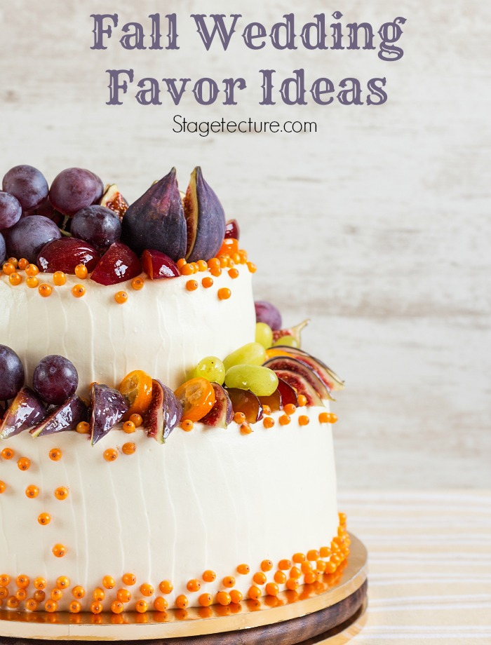 fall wedding favor ideas fall cake