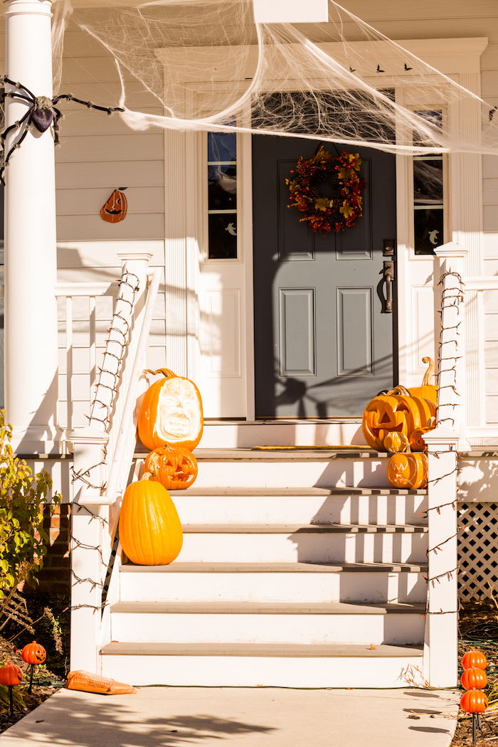 Halloween outdoor porch