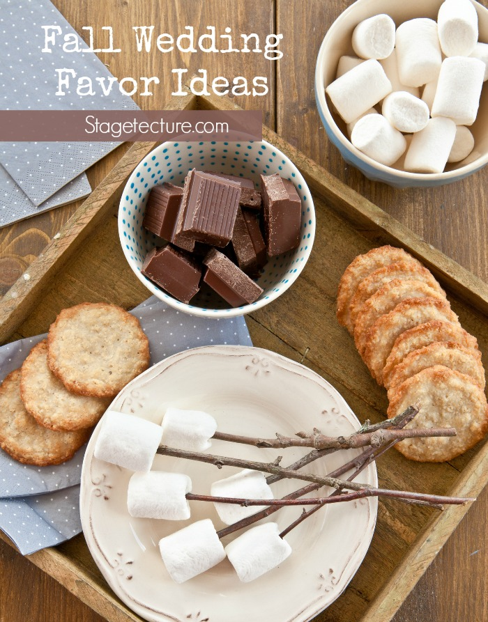 smores wedding favor kit ingredients