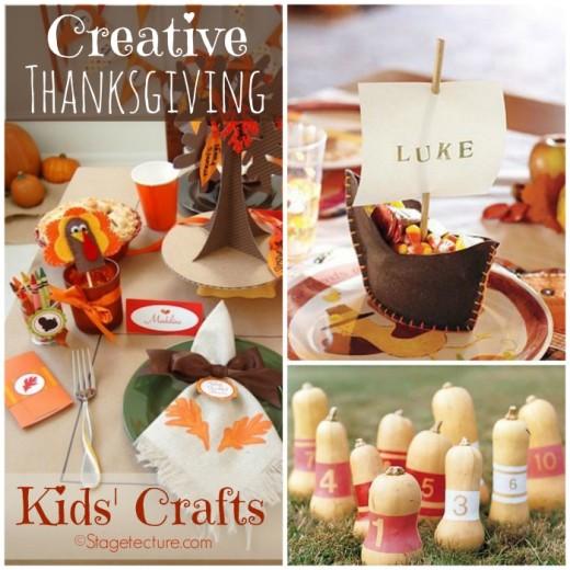 Round Up Ideas: Creative Thanksgiving Kids Crafts