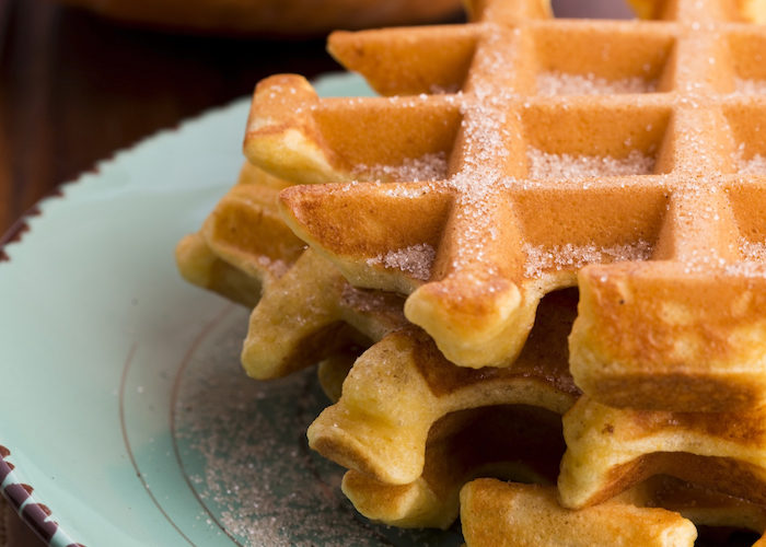 Thanksgiving Breakfast: Pumpkin Waffles and Maple Cream