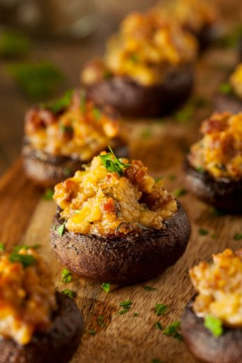 New Years Appetizer Recipes: Sausage Stuffed Mushrooms