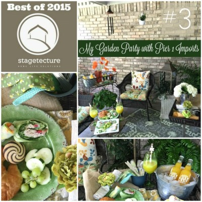 Best of 2015 – No 3 – My Garden Party with Pier 1 Imports