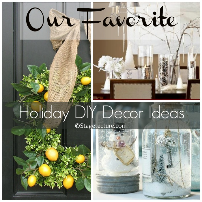Stagetecture Holiday DIY Decor Ideas Round up