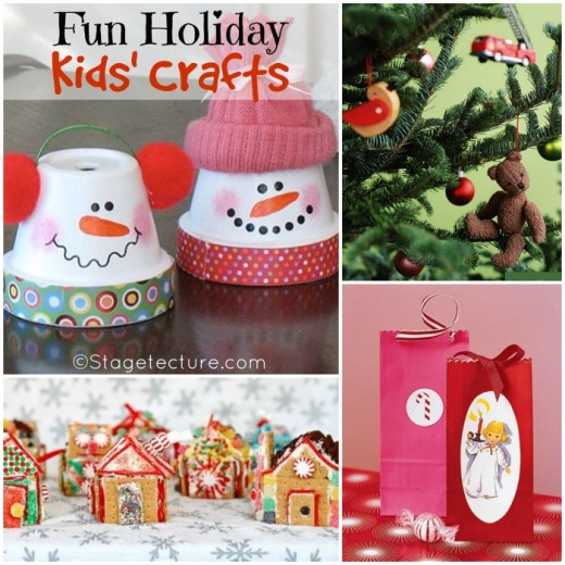 Round Up Ideas: 5 Fun Holiday Kids' Crafts