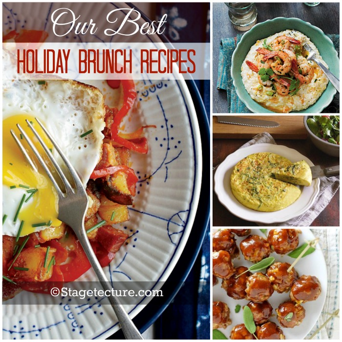 Stagetecture holiday brunch recipes roundup