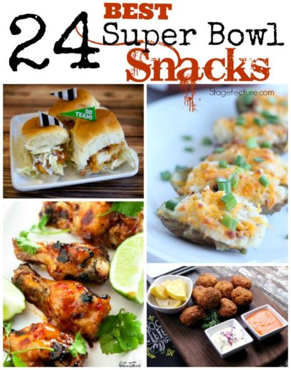 24 party food ideas and super bowl snacks for Super bowl appetizers pinterest