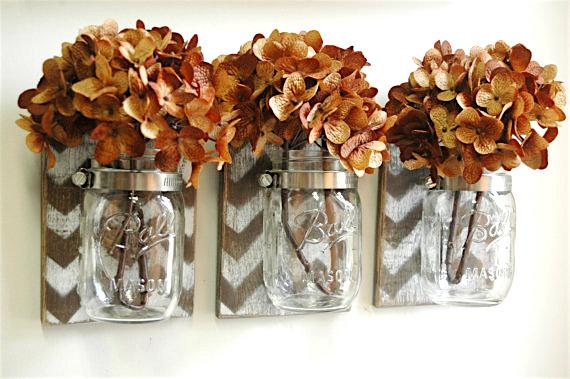 Mason jar craft organizer