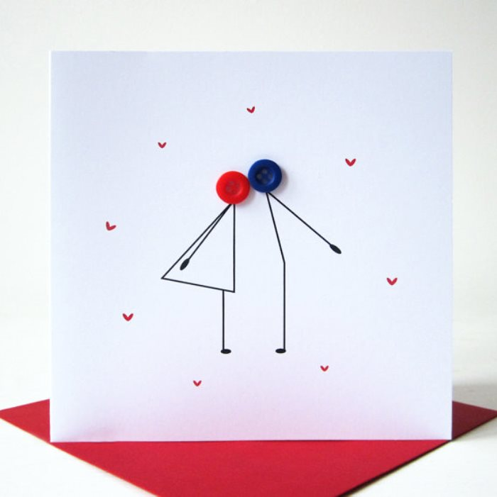 simple valentines day ideas: custom card making -, Ideas