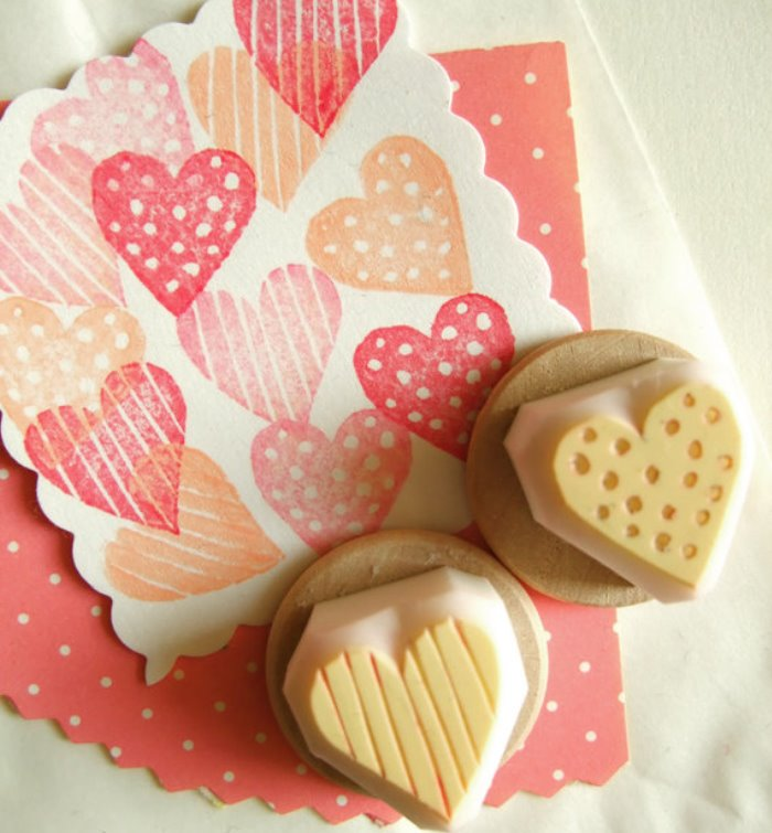 Attractive Rubber Stamp Card Making Ideas Part - 5: Valentines Day Ideas Custom Rubber Stamps. Custom Rubber Stamps Are Perfect  For Valentines Day Cards