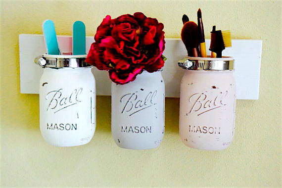 Diy Room Decor How To Make A Mason Jar Bathroom Organizer