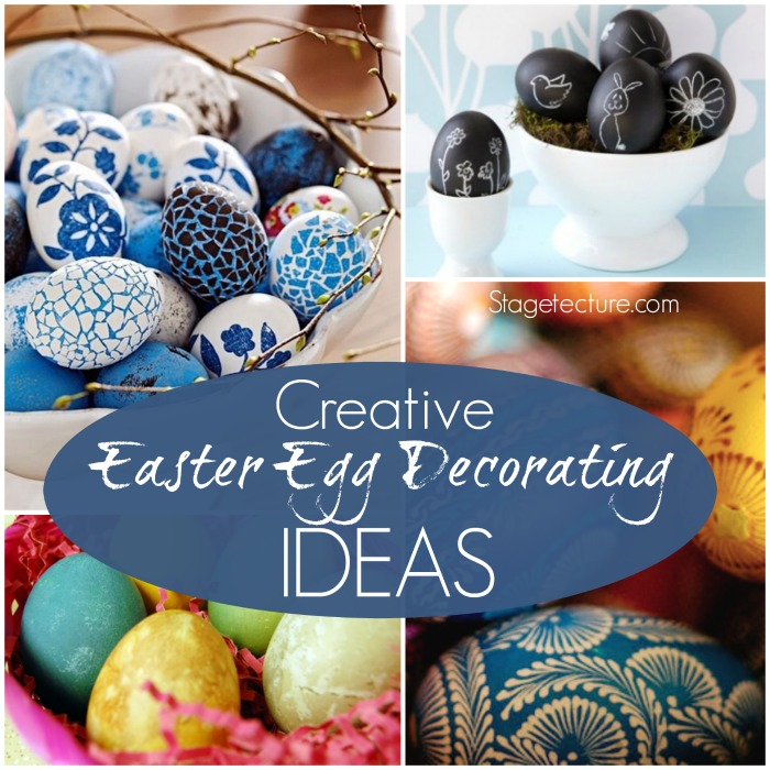 Easter decor table decorations on budget for Easter egg ideas