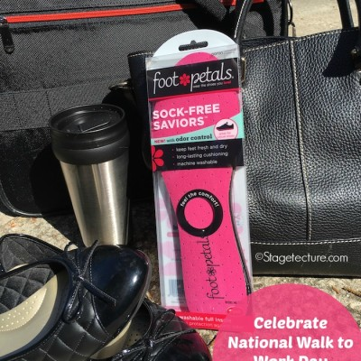 I'm Celebrating Walk to Work Day with #PetalYourWay Foot Petals Insoles