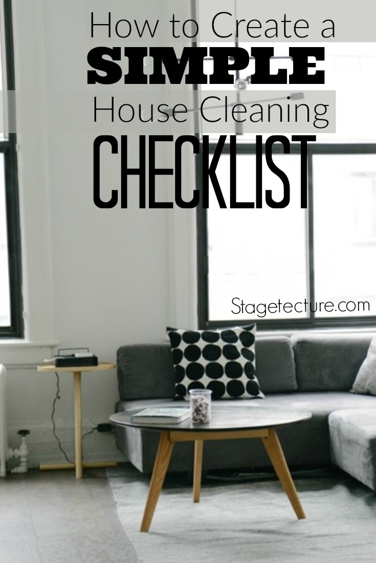 How to create a simple house cleaning checklist for Minimalist house cleaning