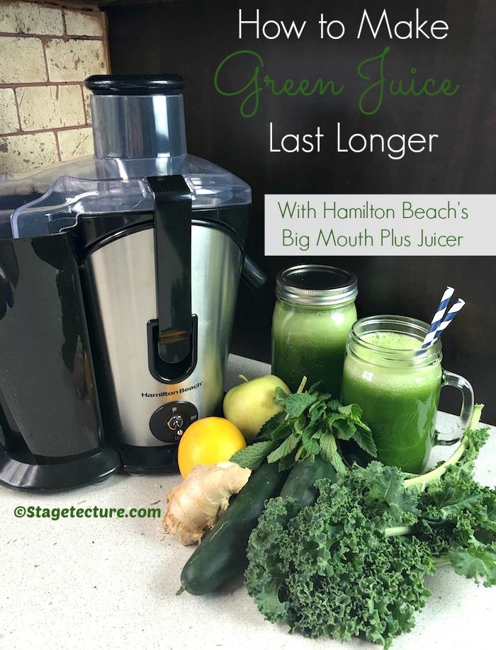 Hamilton Beach Stagetecture Green Juice