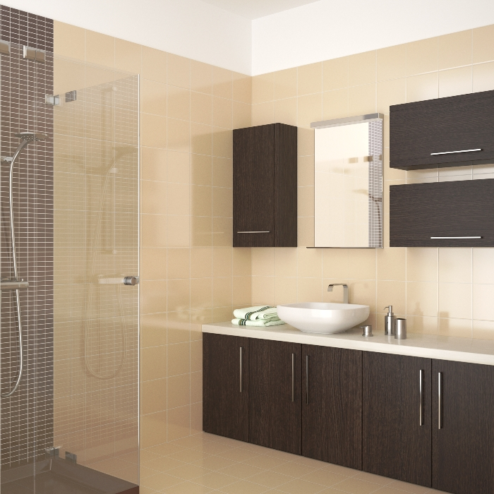 Easy ways to update your bathroom cabinets for Updated bathrooms 2016