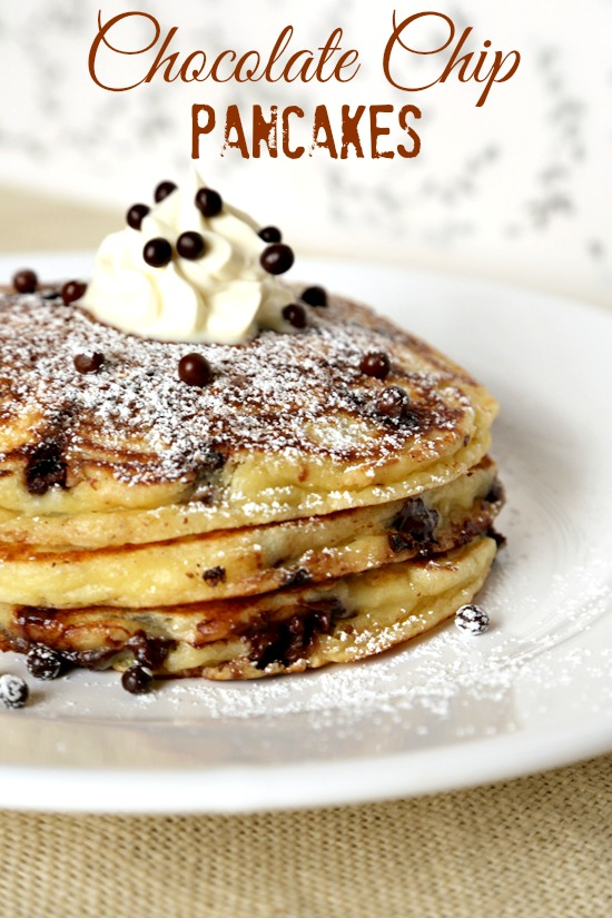 chocolate chip pancakes recipe