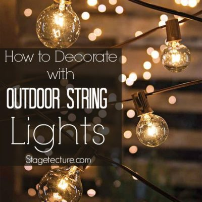 Creative Ways to Decorate with Outdoor String Lights