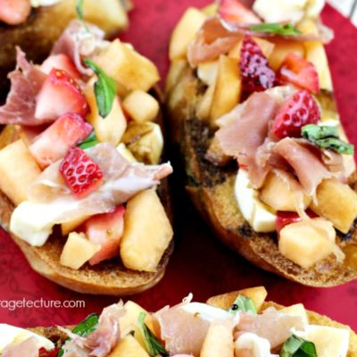 Strawberry Recipes: How to Make Strawberry Cantaloupe Bruschetta