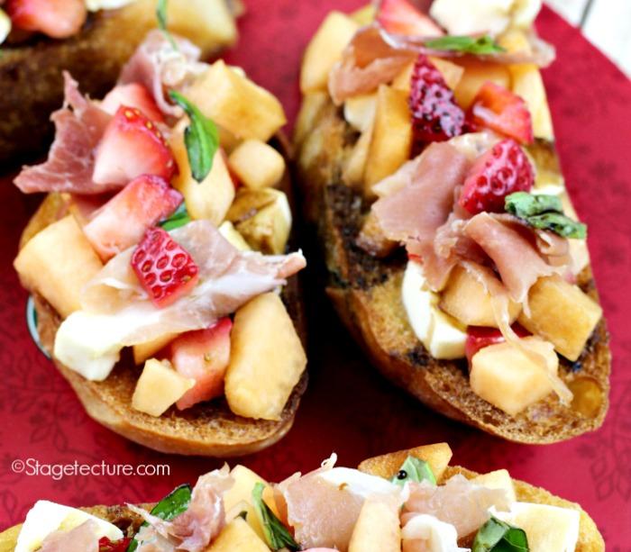 fb_Strawberry recipe Cantaloupe Prosciutto Bruschetta