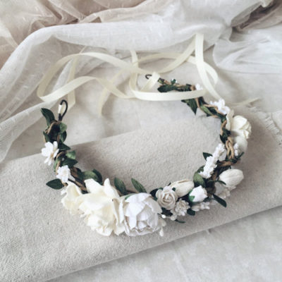Easy DIY Wedding Ideas: Summer Floral Crown