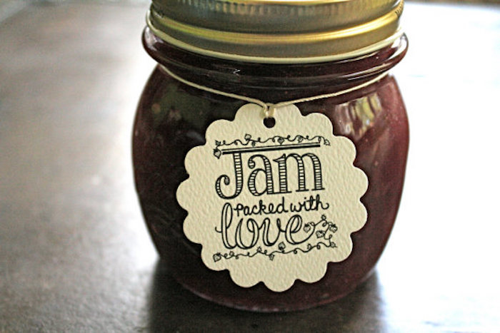 wedding tags for jam